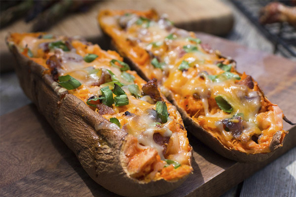 double stuffed sweet potatoes image