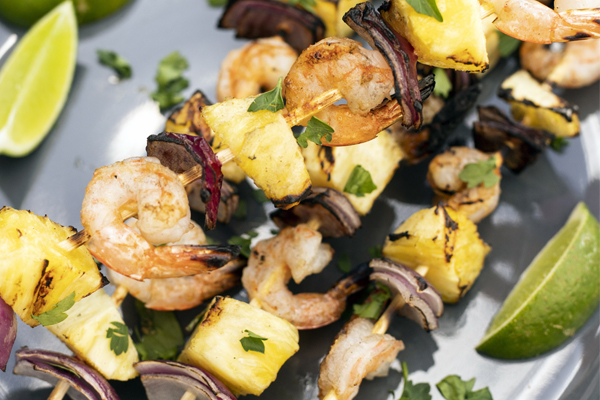 hawaiian shrimp skewers image