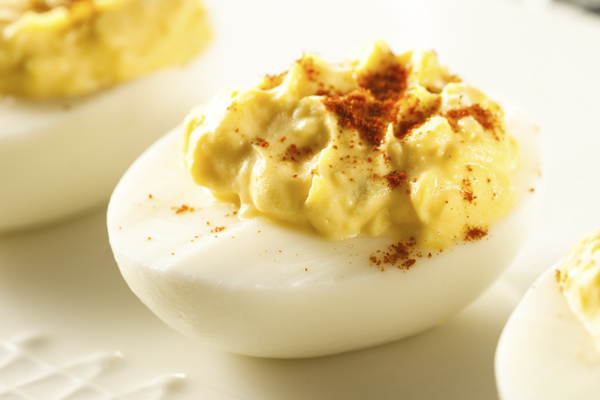 smoked deviled egg image