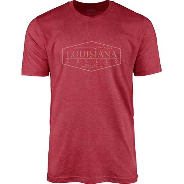 Louisiana Grills Men's Red Heather Picture Logo T-Shirt