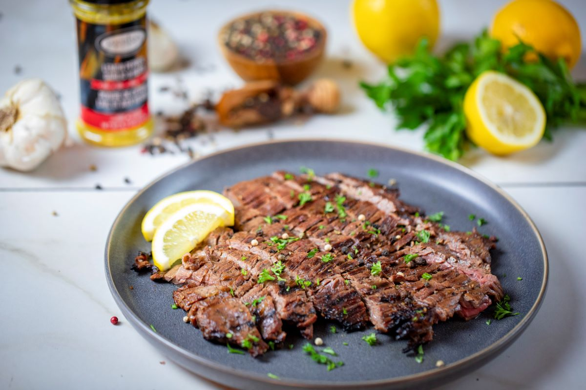 Lemon Garlic Grilled Flank Steak